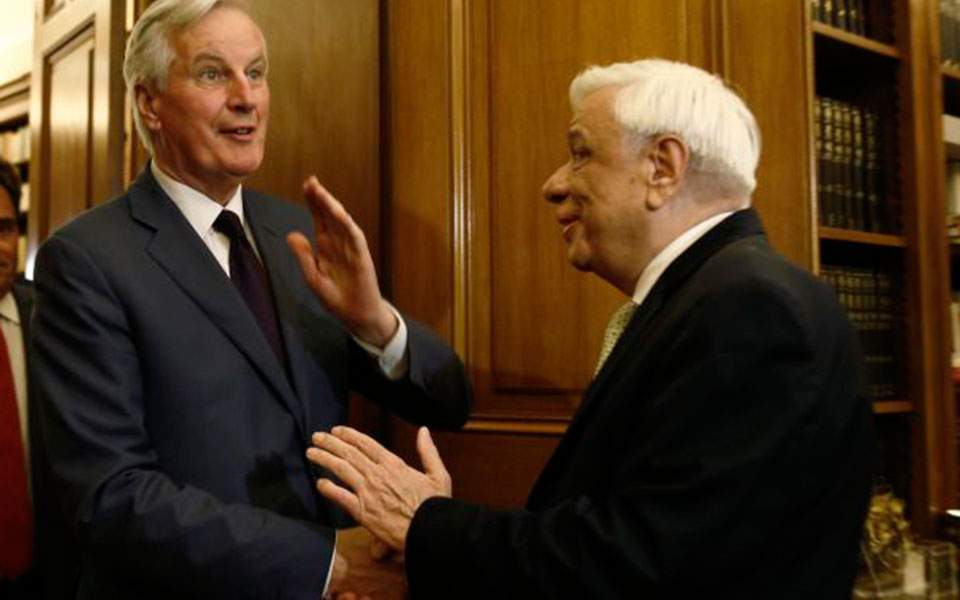Κυπριακή ΑΟΖ και Brexit στο επίκεντρο της συνάντησης Παυλόπουλου – Μπαρνιέ | ΠΟΛΙΤΙΚΗ
